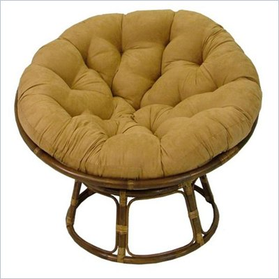 "International Caravan Papasan 42"" Rattan Chair with Cushion"