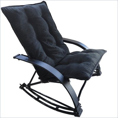 International Caravan Folding Rocking Game Chair in Black