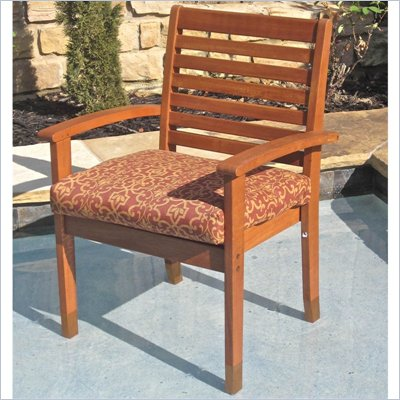 International Caravan Royal Tahiti Oslo Contemporary Patio Chair - Set of 2