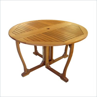 International Caravan Royal Tahiti Outdoor Wooden Gate Leg Patio Table