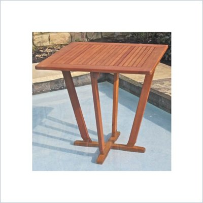 International Caravan Royal Tahiti 28&quot; Square Pyramid Patio Table