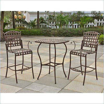 International Caravan Santa Fe Bar Height Outdoor Bistro Set