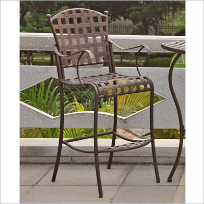 International Caravan Santa Fe Wrought Iron Bar Height Chair(Set of 2)