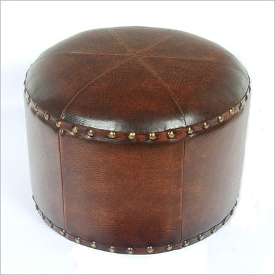 International Caravan Sicily 17&quot; Round Stool in Brown