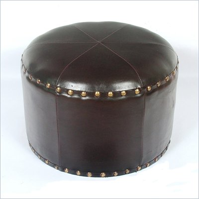 International Caravan Sicily 17&quot; Round Stool in Dark Chocolate