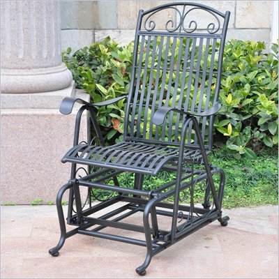 International Caravan Sonoma Outdoor Iron Patio Glider