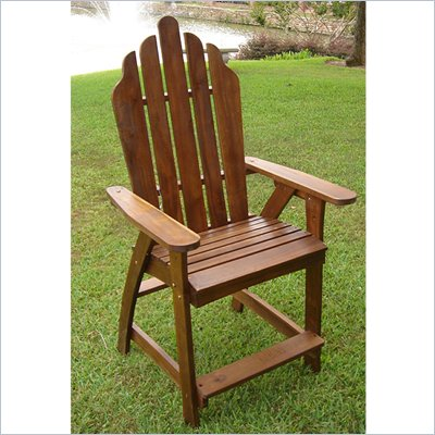 International Caravan Adirondack Bar Heigh Patio Chair