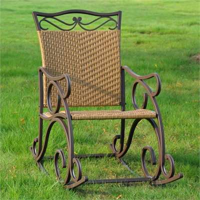 International Caravan Valencia Outdoor Wicker Patio Rocker
