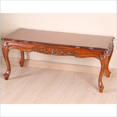 International Caravan Wood Hand Carved Coffee Table