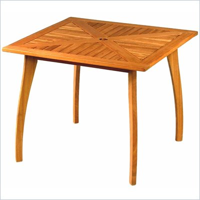 International Caravan 36&quot; Wood Patio Table