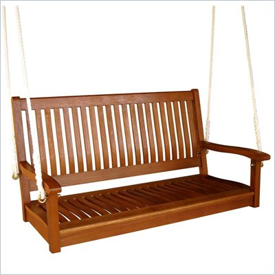 International Caravan Outdoor 48&quot; Two Seater Wood Swing