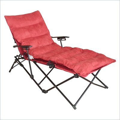 International Caravan Foldable Chaise Lounge in Cardinal Red