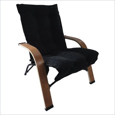International Caravan Foldable Game Chair in Black
