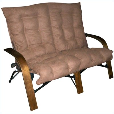 International Caravan Loveseat in Saddle Brown