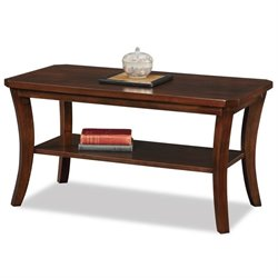 Leick Boa Coffee Table in Chocolate Cherry