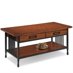 Leick Ironcraft Coffee Table in Burnished Oak
