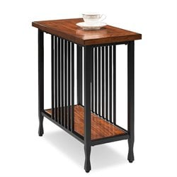 Leick Ironcraft Narrow End Table in Burnished Oak