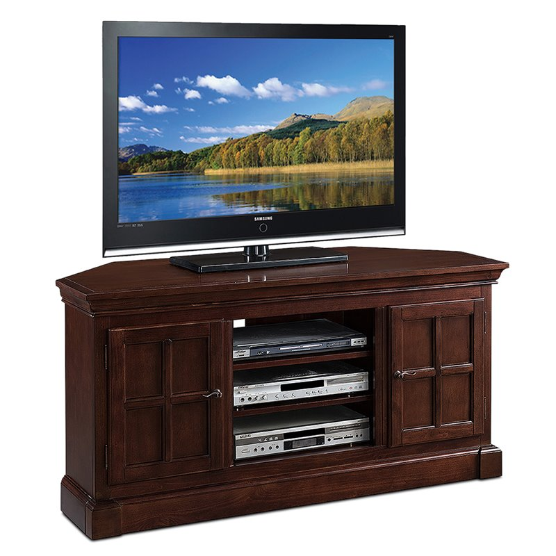 Leick Furniture Riley Holliday 55 TV Console in Heartwood Cherry