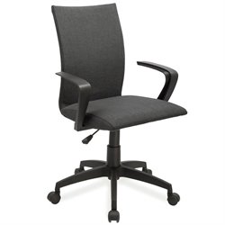 Leick Apostrophe Linen Office Chair in Black