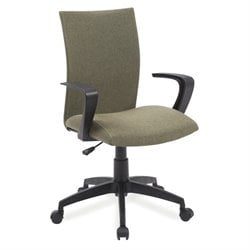 Leick Apostrophe Linen Office Chair in Sage Green