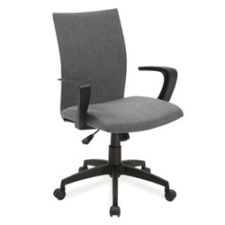 Leick Apostrophe Linen Office Chair in Gray