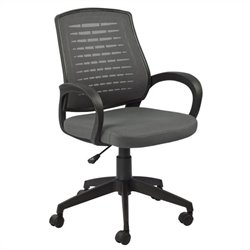 Leick Furniture Mesh Vented Back Office Chair in a Gray Finish
