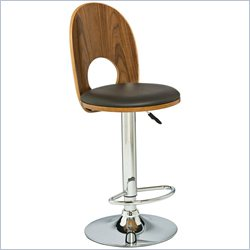 Leick Furniture 32 Mousehole Adjustable Swivel Stool in Chrome and Brown (Set of 2)