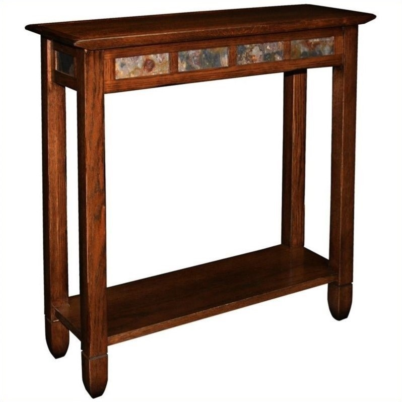 Leick Furniture Rustic Slate Hall Stand A Rustic Oak