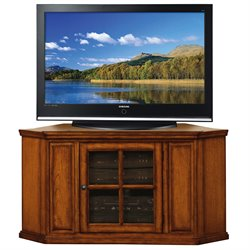 Leick Furniture 46 Corner TV Stand in Burnished Oak Finish