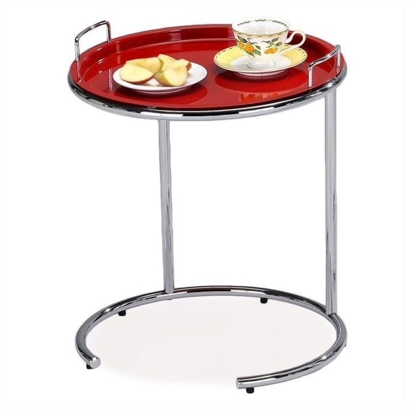 Leick Favorite Finds Tray Top Sofa Server Table in Red
