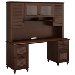 Kathy Ireland by Bush Volcano Dusk Cmputer Desk with Hutch-SH