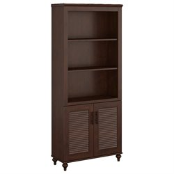 kathy ireland Office Volcano Dusk 3 Shelf Bookcase with Doors