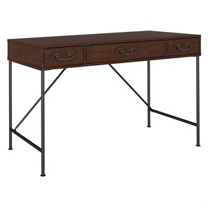 kathy ireland Office Ironworks 48W Writing Desk in Coastal Cherry