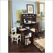 Kathy Ireland by Bush Grand Expressions Small-Space Office Set in Warm Molasses