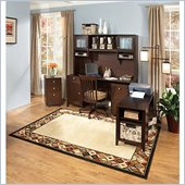 Kathy Ireland Office by Bush Furniture Grand Expressions Mommy-'N-Me Office Set in Warm Molasses
