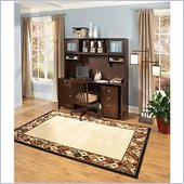 Kathy Ireland Office by Bush Furniture Grand Expressions Home Office Set in Warm Molasses