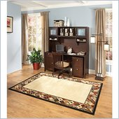 Kathy Ireland by Bush Grand Expressions Home Office Set with 2 Drawer Mobile Filing Cabinet in Warm Molasses
