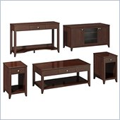 Kathy Ireland by Bush Grand Expressions Work-'N-Play Family Suite with 48 TV Stand in Warm Molasses