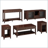 Kathy Ireland by Bush Grand Expressions Work-'N-Play Family Suite with 58 TV Stand in Warm Molasses