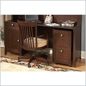 Kathy Ireland by Bush Grand Expressions 66 Desk with 2 Drawer Mobile Filing Cabinet in Warm Molasses