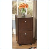 Kathy Ireland by Bush Grand Expressions 2 Drawer Mobile File Cabinet in Warm Molasses