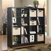 Kathy Ireland by Bush New York Skyline Cube Divider in Modern Mocha