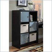 Kathy Ireland by Bush New York Skyline Cube Bookcase in Modern Mocha