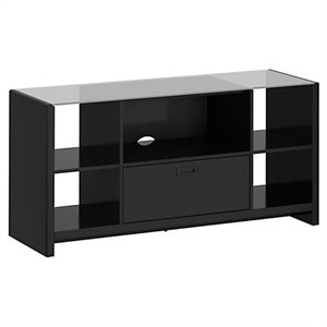 Kathy Ireland Office by Bush Furniture New York Skyline Credenza TV Stand in Modern Mocha