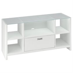 Kathy Ireland Office by Bush Furniture New York Skyline Credenza TV Stand in Plumeria White