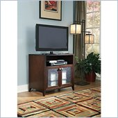 Kathy Ireland by Bush Grand Expressions Tall TV Stand in Warm Molasses