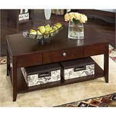 Kathy Ireland by Bush Grand Expressions Coffee Table in Warm Molasses