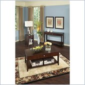 Kathy Ireland by Bush Grand Expressions 3 Piece Coffee Table Set in Warm Molasses
