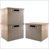 Kathy Ireland by Bush New York Skyline Large File/Storage Bins (3 Pack)
