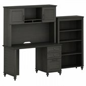 Kathy Ireland by Bush Volcano Dusk Small Office with Bookcase Set